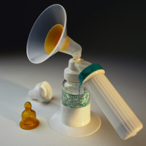 The working mother's accessory: a breast pump.