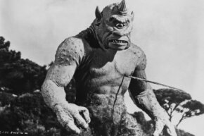 "Stop-motion animation has been a tool for filmmakers for a long time. Pictured here: Ray Harryhausen's stop-motion cyclops from the 1958 film ""The 7th Voyage of Sinbad."""