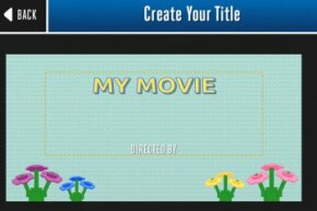 The Lego Movie Maker app will guide you through assembling your masterpiece, starting at the very beginning with a title card.