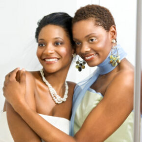 Discuss your wedding theme and colors with your bridesmaids.