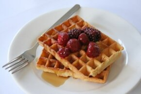 Waffles and berries make a great brunch combo.