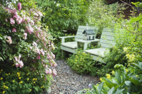 Implementing a shabby chic style can keep the costs down. See some pictures of famous gardens.