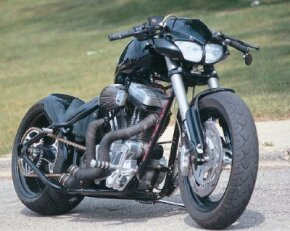 The Buell Street Fighter's 1200-cc Buell V-twin is a hopped-up version of a Harley-Davidson Sportster engine and received numerous upgrades to enhance performance even more.