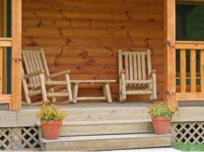 Even basic porch stairs like these take precise planning and careful construction.