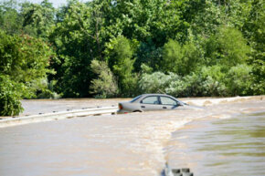 Image Gallery: Car Safety Even if it wasn't submerged as much as this sedan, a car that's been in a flood may have significant damage. See more pictures of car safety.