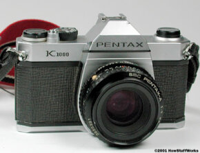 A fully manual single-lens-reflex camera. See more pictures of cool camera stuff.