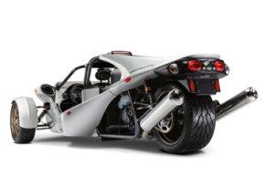 The T-Rex is a tadpole-shaped three-wheeler.