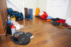 Is this what your house looks like before a camping trip?