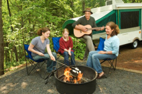 A family camping trip can be an opportunity to create some great memories.