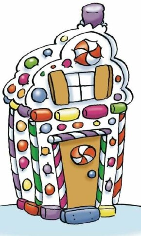 Create a house from leftover candy.