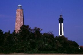 One of the quiet joys of the Cape Henry lighthouse is walking the dunes, fields, and beaches nearby. The seas can be a source of solace and renewal. See more pictures of lighthouses.