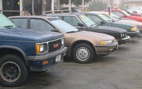 You will find an assortment of makes and models on a used car lot.