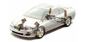 Double-wishbone suspension on Honda Accord 2005 Coupe