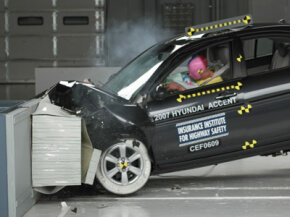 This crash test is one of many tests that automakers conduct to assess the quality and performance of their cars. See more car safety pictures.