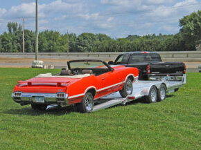 Towing with a flatbed trailer. Does it get any better?
