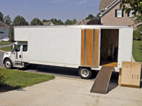 All of your stuff is packed in the moving van. All that's left it to tow your car to your new life. See more truck pictures.
