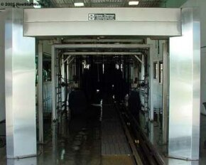 A look inside a typical automated car wash.