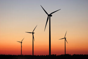 Carbon offsets help support renewable energy sources like wind power.