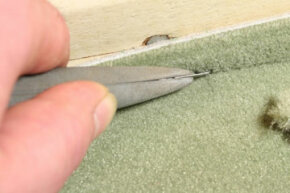 A professional carpet installer pays great attention to detail.