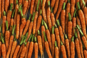 If you ate all these carrots, would you be able to see through walls?