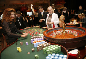 Guests play roulette in the Interior at the Consulate General of Monaco. See more casino pictures.