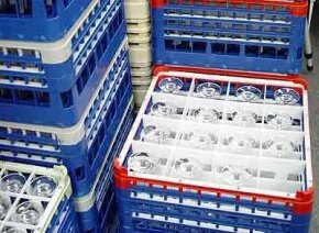 Photo courtesy Joel                              Glasses safely stored in racks are easy to transport.