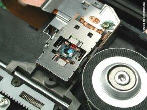 The laser assembly inside a CD burner