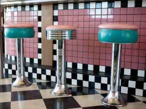 Dazzle your buddies at the soda fountain by explaining how these tiles were made.