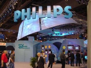 The Philips booth is one of the largest at the show.