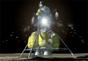 Astronauts leave the moon in the ascent stage