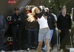 Actress Molly Sims was one of many celebrities at the Audi Hole-in-One Challenge for Charity on January 30, 2008. Benefit events are a popular and entertaining way to raise money for charity.