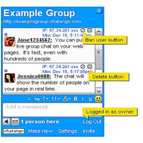 Chatango users can chat with friends or embed chat rooms on Web sites and social networking profiles.