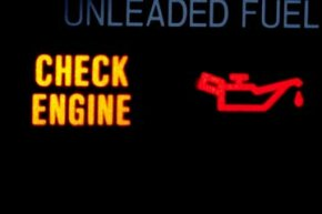 Image Gallery: Car Safety An active check engine light can mean trouble. See more car safety pictures.