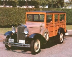 The 1931 Chevrolet Series AE station wagon had a new grille design, revised hood louvers, and a new headlight bar. See more classic car pictures.