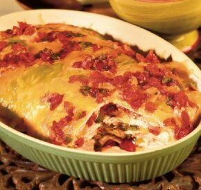 Easy chicken chalupas casserole is among our top 10 chicken casserole recipes.