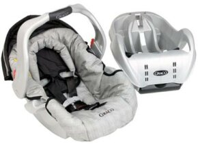 Graco SnugRide This rear-facing seat has a separate plastic base that can be left in your vehicle, while the seat serves as portable unit.