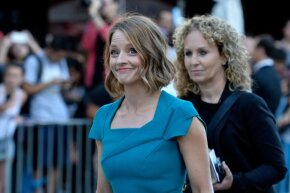 """Jodie Foster arrives at the premiere of """"Elysium"""" in August 2013."""