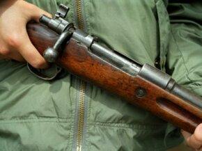 A classic bolt-action rifle