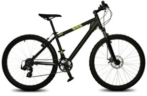 Mountain bikes have smaller frames and wider tires than traditional bikes. See pictures of extreme sports.