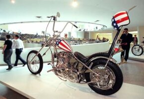 """Image Gallery: Choppers A replica of one of the choppers from the film """"Easy Rider."""" See more chopper pictures."""