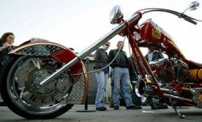Orange County Choppers built this motorcycle and called it the Fire Bike.