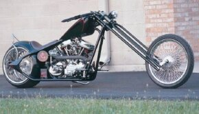 Chopper, Baby is a custom-built bike with 18-inch-over Redneck springer forks set at an incredible 52-degree rake. See more chopper pictures.