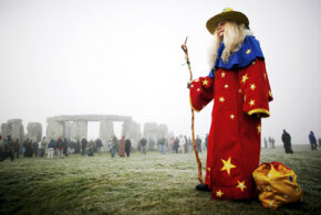 Modern pagans still celebrate the winter solstice at Stonehenge in England.
