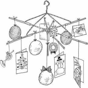 Christmas Card Mobile Christmas Activity