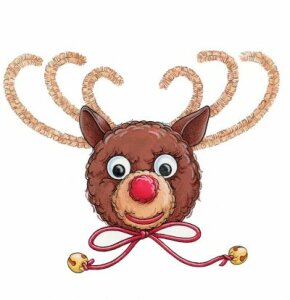 Not only are pom reindeer magnets cute, they're fun to make!