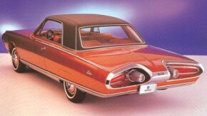 The public heaped praise on the styling on the 1963 Chrysler Turbine Car. All were Turbine Bronze inside and out, and had a black vinyl roof.