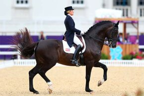 Tina Konyot, a member of the famous equestrian Konyot family, competes for the U.S. in the 2012 Olympics in London.