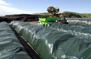 Image Gallery: Green Living Large composting facilities care for maturing compost in long fabric tubes called windrows. See more green living pictures.