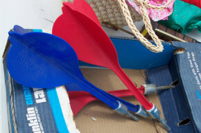 Even though lawn darts with steel tips have been banned in the U.S. since the 1980s, there is an underground movement of lawn dart enthusiasts who meet for tournaments.