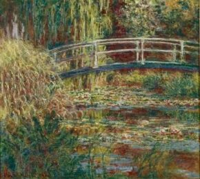 The Waterlily Pond, Harmony in Pink is an oil on canvas (35-3/8x39-3/8 inches) housed at the Musée d'Orsay in Paris.